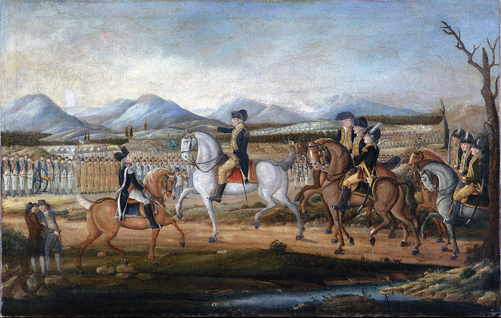 President George Washington in Uniform at Fort Cumberland Prior to the Whiskey Rebellion of 1794