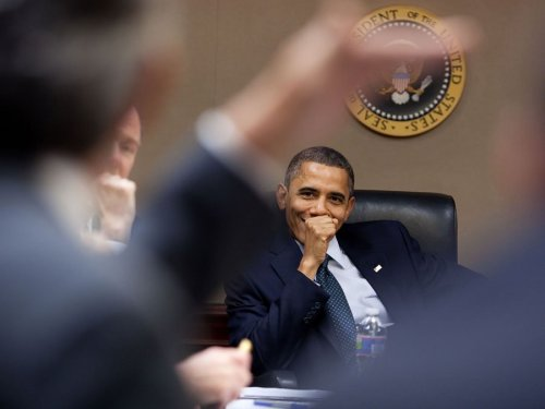 President Obama in the White House Situation Room