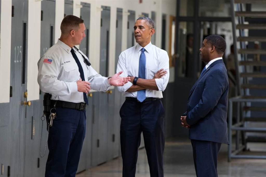 President Obama Visits Federal Prison