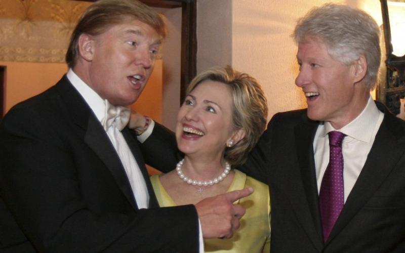 Donald Trump, Hillary Clinton, Bill Clinton  - Three New York Limousine Liberals